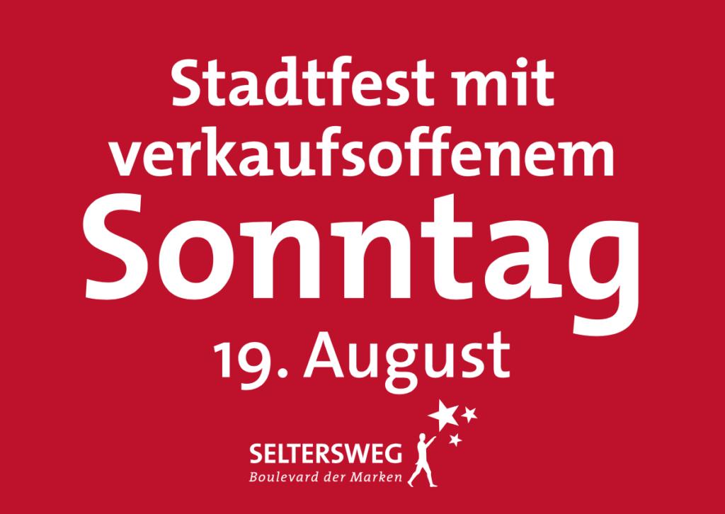 Verkaufsoffener Sonntag am 19. August im Seltersweg