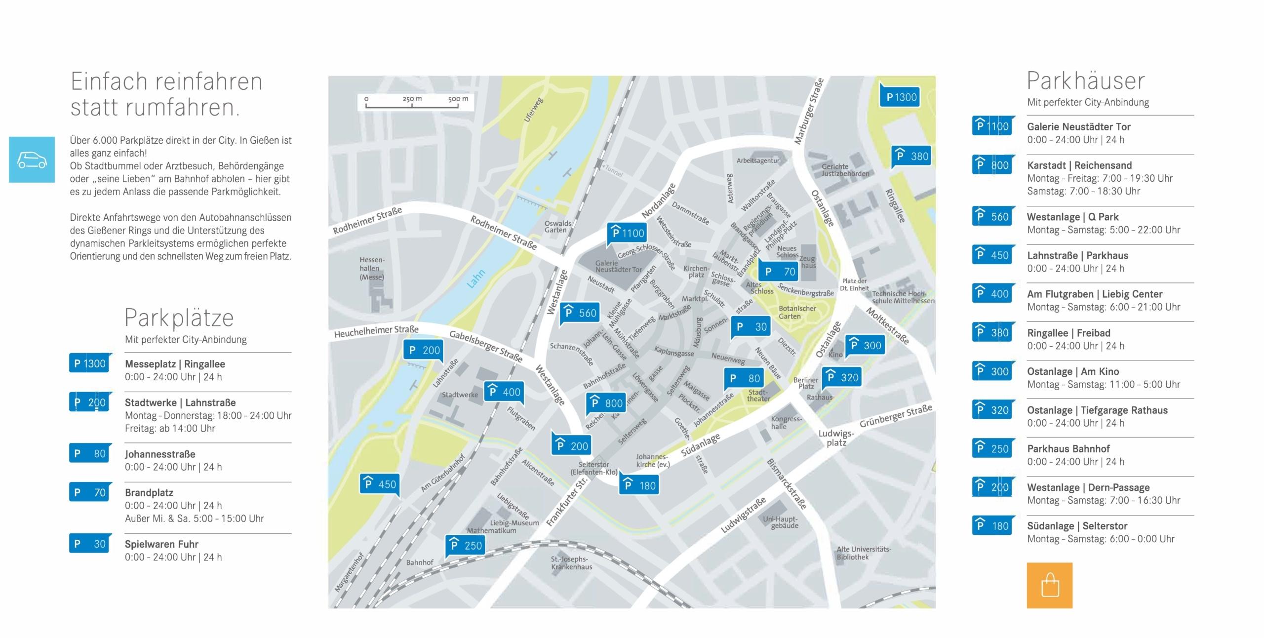 Parken in der Gießener Innenstadt